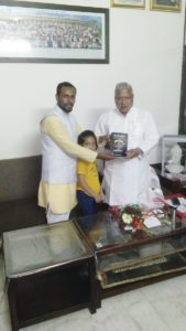Photos of Acharya Gaurav Arya,, astrologer gaurav arya and eiha dixit with rajendra agarwal mp meerut